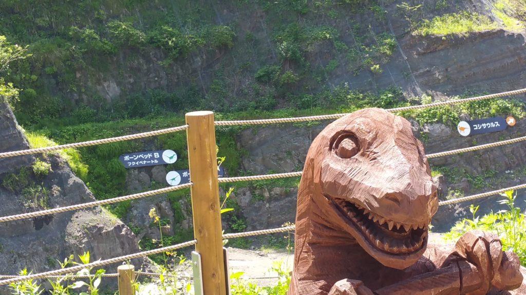 野外恐竜博物館発掘現場
