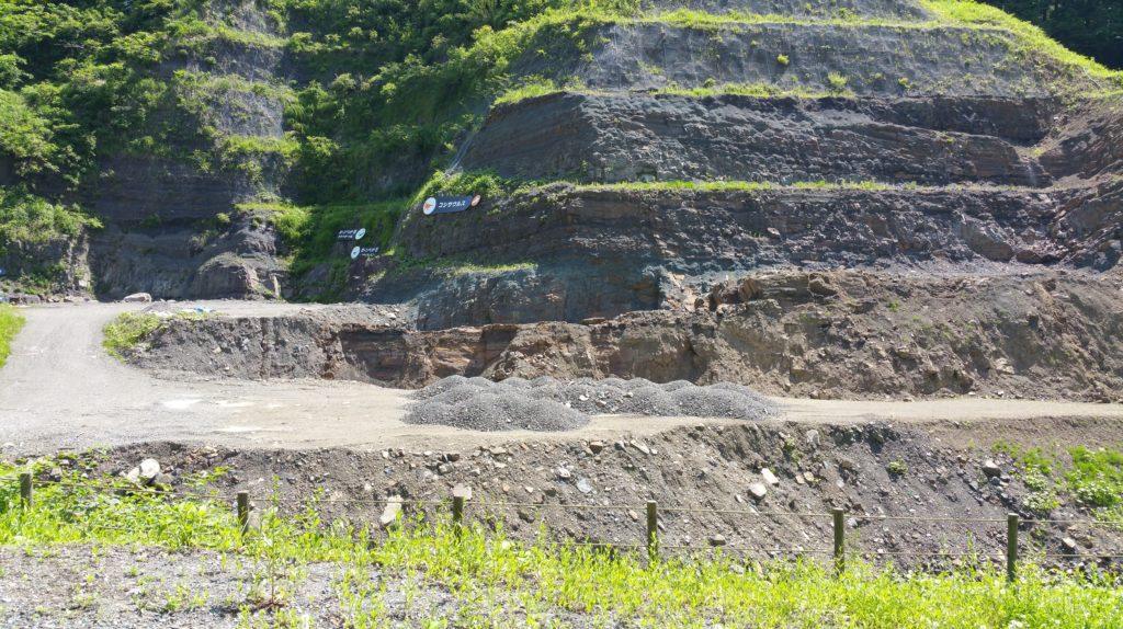 野外恐竜博物館化石発掘現場